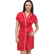Klamotten Satin Plain Nightwear - Red - YY04