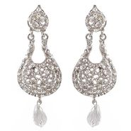 Kriaa Austrian Diamond Drop Earrings - White _ 1300903