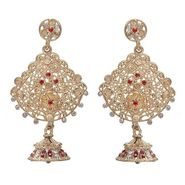 Kriaa Austrian Stone Earrings - Red _ 1301223
