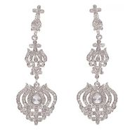 Kriaa Austrian Stone Earrings - White _ 1301225