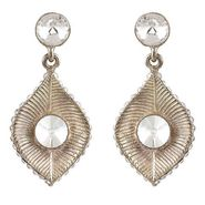 Kriaa Austrian Stone Earrings - White _ 1301414