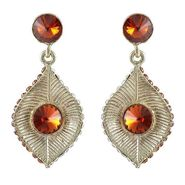 Kriaa Austrian Stone Earrings - Brown _ 1301417
