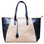 Sai Arisha PU Black-Cream Tote Handbag -LB637