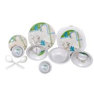 Set of 32 Choice Melamine Dinner Set - Multicolor LE-CH-003