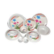 Set of 32 Choice Melamine Dinner Set - Multicolor LE-CH-009