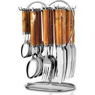 Pogo galaxy designer cutlery set - 25 pcs silver LE-POGO-009