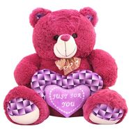Valentine stuff Grape Bear 40 Cms - Purple