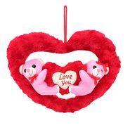 Couple onHeart Valentine Stuff Teddy - Pink