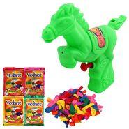 Holi Green Water Pichkari Horse Squirter With Gulal Balloons 800-17 - 4VHG