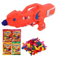 Holi Orange Water Pichkari Super Squirter With Gulal Balloons M66 - 4VHG