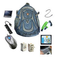 Combo of 16-inch Laptop Backpack + 8 Accessories