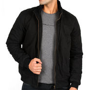 Lee Full Sleeves Cotton Jacket_Lee01 - Black