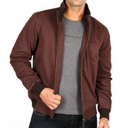 Lee Full Sleeves Cotton Jacket_Lee03 - Brown