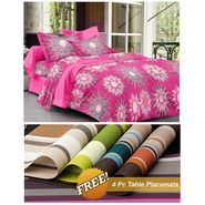 Storyathome Red Printed 1 Double Bedsheet With 2 Pillow Cover -MG1406_TT