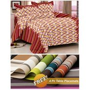 Storyathome Maroon Abstract 1 Double Bedsheet With 2 Pillow Cover -MG1418_TT