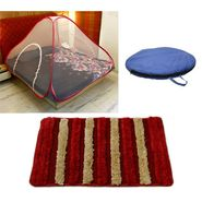 Storyathome Double Bed foldable Mosquito Net With 1 Pc Door Mat -MOS_101-DN1408