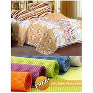 Storyathome Cream Floral 1 Double Bedsheet With 2 Pillow Cover -MT1219_TT