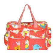 Wonderkids Red Print Baby Diaper Bag