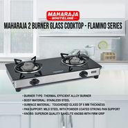 Maharaja 2 Burner Glass Cooktop - Flamino Series