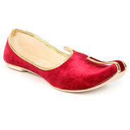 Do Bhai Synthetic Leather Ethnic Maharaja-Jutti-Red