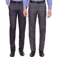 Tiger Grid Pack Of 2 Cotton Formal Trouser For Men_Md028