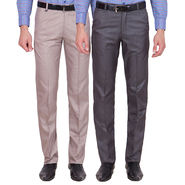 Tiger Grid Pack Of 2 Cotton Formal Trouser For Men_Md029