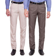 Tiger Grid Pack Of 2 Cotton Formal Trouser For Men_Md030