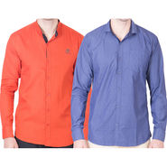 Cliths Pack of 2 Cotton Shirts For Men_Md076