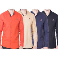 Cliths Pack of 4 Cotton Shirts For Men_Md088