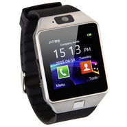 Being Trendy with SIM and 32 GB Memory Card Slot and Fitness Tracker Stainless Steel Smart Watch - Black