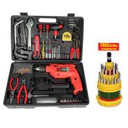 New 102 Pcs. Multipurpose Tool Kit with Powerful Drill Machine + Free Professional 31 Pcs. Screwdriver Set