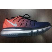 Nike Air Max Navy Blue & Orange Sports Shoes -osn012