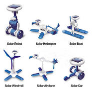 6 in 1 Solar Powered Educational Toy Kit