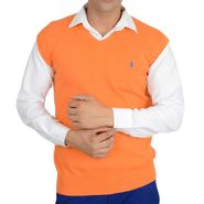 Branded Regular Fit Cotton Sweater_Os09 - Orange