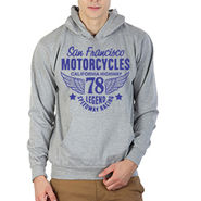 Printland Full Sleeves Cotton Hoodies_Pg1148 - Grey