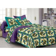 Storyathome 100% Cotton Double Bedsheet With 2 Pillow Cover-PL1118