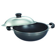 Prestige Non Stick Omega Select Plus Round Base Kadai 250 mm with SS Lid