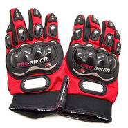 Pro Biker Gloves Full - Red