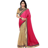 Indian Women Satin Chiffon Printed Saree -RA10602