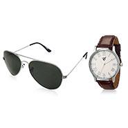Combo of Rico Sordi Analog Wrist Watch + Sunglasses_12398212