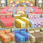 Royal Home Set of 7 Double Bedsheets (7BS2)