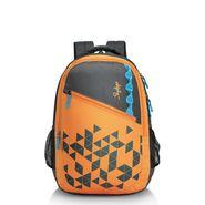 Skybags Orange Laptop Backpack_Pixel extra 01 Orange