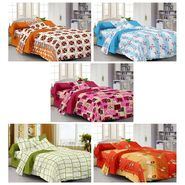 100% Cotton Multi Design Set of 5 Single Bedsheet with 5 Pillow Covers-SP1209_10_11_17_18