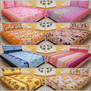 Salona 8 Designer Double Bed Sheets with 16 Pillow Covers (8BS11)