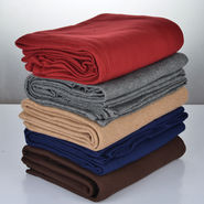 Set of 5 Colorful Solid Fleece Blankets