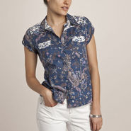 Shoppertree Short Sleeve Printed Cotton And Floral Shirt (Multi Colour) - 948