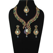 Sia Traditional Gold Plated Necklace Set - Multicolour _ NSET_SIA501