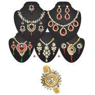 SIA Gold Plated Colourful Diamond Jewellery