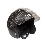 Steelbird Black SB-43 Yo Yo Dashing Open Face Helmet