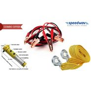 3 In 1 Combo- 5 In 1 Emergency Tool + 300 AMP Jumper Cable + 3mtr Tow Cable